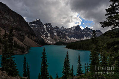 Photograph - Gathering Storm At Moraine Lake by Charles Kozierok
