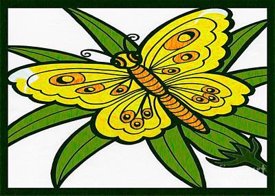 Digital Art - Gathering Sunshine Abstract Butterfly Art By Omaste Witkowski  by Omaste Witkowski