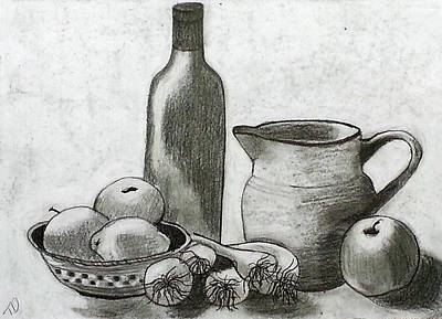Still Life Drawings - Gathering by Tami Dalton