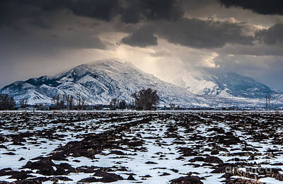 Payson Photograph - Gathering Winter Storm - Utah Valley by Gary Whitton