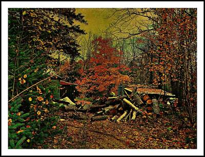 Gathering Wood For Winter  Art Print by Dianne  Lacourciere