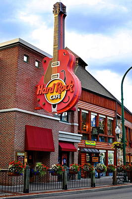 Photograph - Gatlinburg Hard Rock Cafe by Frozen in Time Fine Art Photography