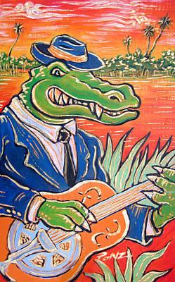 Gator Boogie Art Print by Robert Ponzio