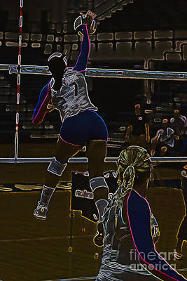 Volley Photograph - Gator  Spike by Tom Gari Gallery-Three-Photography