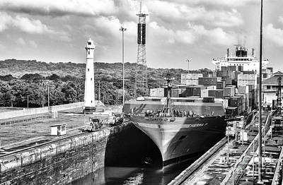 Photograph - Gatun Locks Lighthouse And The Herma P by Rene Triay Photography