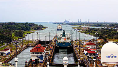 Photograph - Gatun Locks Panama Canal by Kurt Van Wagner