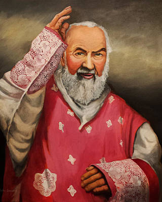 Padre Pio Painting - Gaudete Sunday by John Genuard