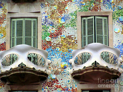 Casa Photograph - Gaudi Casa Bastillo by Greg Mason Burns