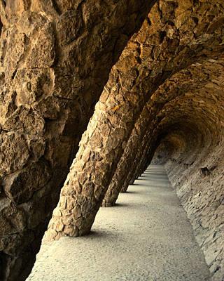 Gaudi Columns Art Print by Todd Hartzo