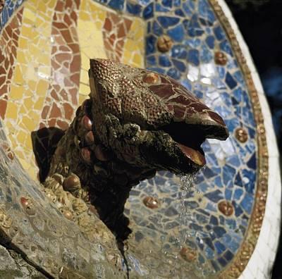 Ceramics Photograph - Gaudi I Cornet, Antoni 1852-1926. Park by Everett