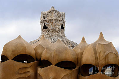Photograph - Gaudi S Army In Barcelona by Leo Symon