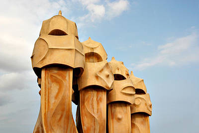 Photograph - Gaudi Sentinels La Pedrera Barcelona by Mathew Lodge