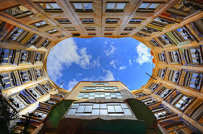 Photograph - Gaudi's View Up by Jack Daulton
