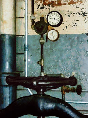 Photograph - Gauges In Machine Shop by Susan Savad