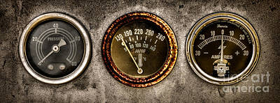 Machinery Photograph - Gauges  by Olivier Le Queinec