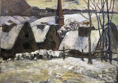 Gauguin, Paul 1848-1903. Breton Village Art Print