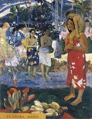 Hail Mary Photograph - Gauguin, Paul 1848-1903. La Orana Maria by Everett