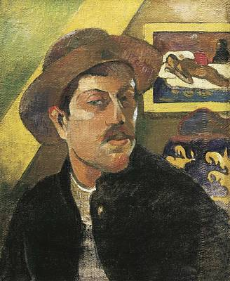 Self-portrait Photograph - Gauguin, Paul 1848-1903. Self Portrait by Everett