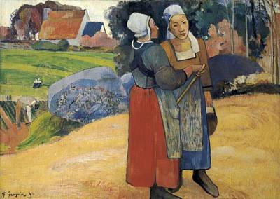 Gauguin, Paul 1848-1903. Two Breton Art Print