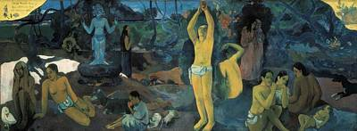 Que Photograph - Gauguin, Paul 1848-1903. Where Do We by Everett