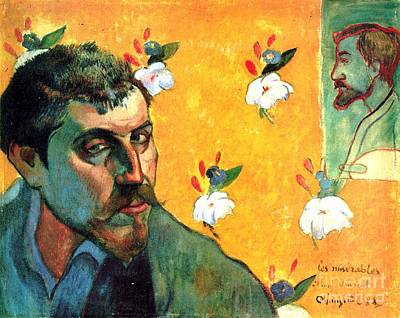 Gauguin Self Portrait - As Jean Valjean Art Print by Pg Reproductions