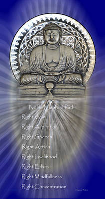 Photograph - Gautama Buddha - The Noble Eightfold Path by rd Erickson