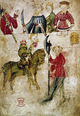 Literature Painting - Gawain And The Green Knight by Granger