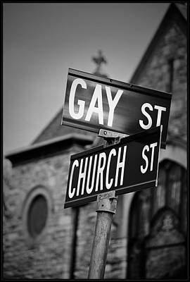 Photograph - Gay And Church Street by Rick Mosher