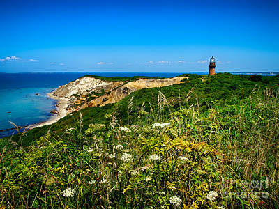 Photograph - Gay Head Light And Cliffs by Mark Miller