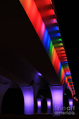 Photograph - Gay Pride Lights On 35w Bridge by Heidi Hermes