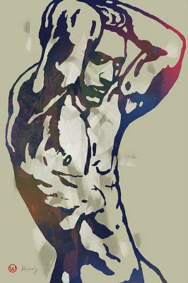 Hip Drawing - Gay  Stylised Etching Pop Art Poser by Kim Wang