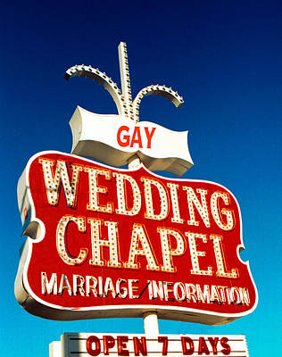 Gay Rights Wall Art - Photograph - Gay Wedding Chapel by Matthew Bamberg