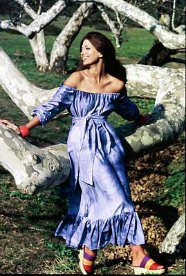 Photograph - Gayle Hunnicutt Wearing A Ginori Dress by Henry Clarke