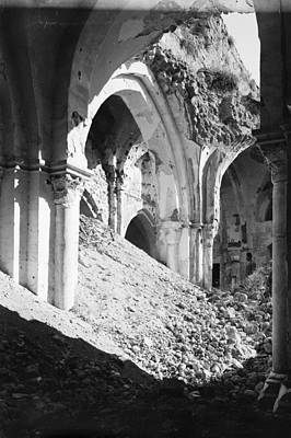 Gaza Photograph - Gaza Mosque Ruins by Granger
