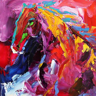 Painting - Gaze Of Strength Horse 22 - 2014 by Laurie Pace