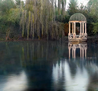 Realistic Photograph - Gazebo And Lake by Terry Reynoldson