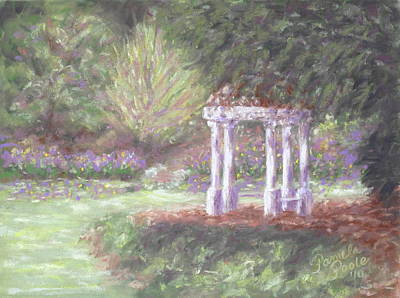 Gazebo At Hopelands In Spring Art Print