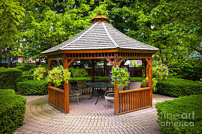 Stone Buildings Photograph - Gazebo  by Elena Elisseeva