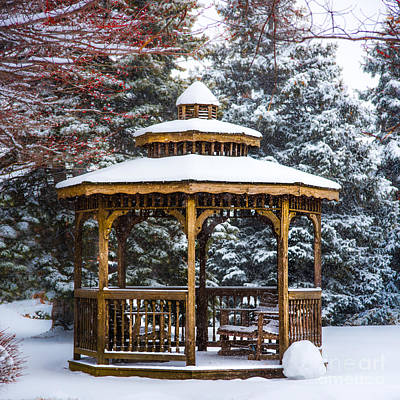 Photograph - Gazebo In Archbold Ohio by Michael Arend