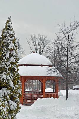 Digital Art - Gazebo In Snow by Eva Kaufman