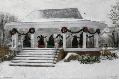 Photograph - Gazebo In The Snow by Fran Gallogly