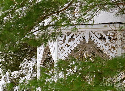 Photograph - Gazebo In The Snow  by Nancy Patterson