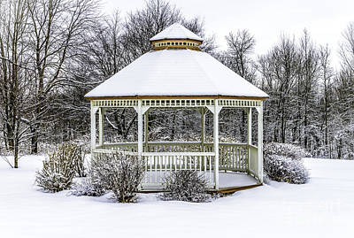Photograph - Gazebo In Winter by Glenn Gordon