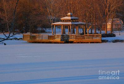 Photograph - Gazebo On Frozen Lake by Mark McReynolds