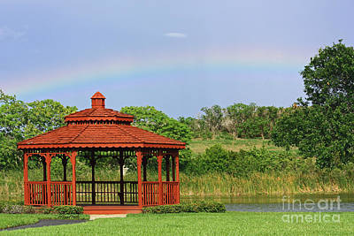 Gazebo Rainbow Art Print