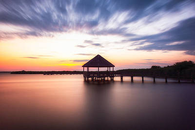 Photograph - Gazebo Sunset Obx by Dustin Ahrens