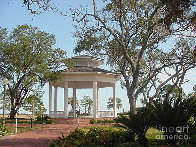 Photograph - Gazeebo At Apalachicola Florida by Audrey Peaty