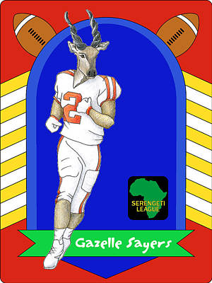 Digital Art - Gazelle Sayers by Alison Stein