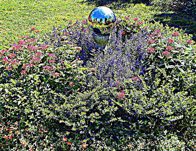 Photograph - Gazing Ball by Pamela Hyde Wilson