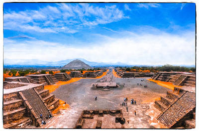 Photograph - Gazing Down Upon Teotihuacan by Mark E Tisdale